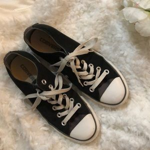 Converse All Star black gray Sneakers. 6.5